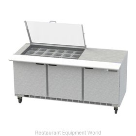 Beverage Air SPE72HC-18M-CL Refrigerated Counter, Mega Top Sandwich / Salad Unit