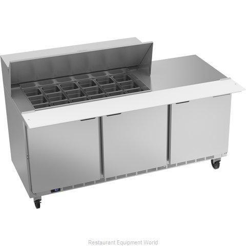 Beverage Air SPE72HC-18M Refrigerated Counter, Mega Top Sandwich / Salad Unit