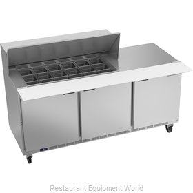 Beverage Air SPE72HC-18M Refrigerated Counter, Mega Top Sandwich / Salad Unit