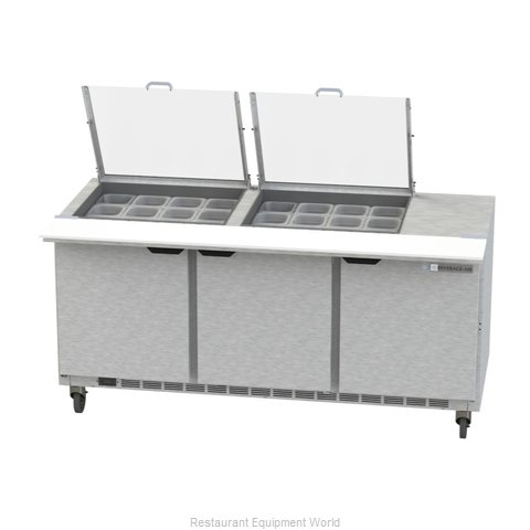 Beverage Air SPE72HC-24M-CL Refrigerated Counter, Mega Top Sandwich / Salad Unit