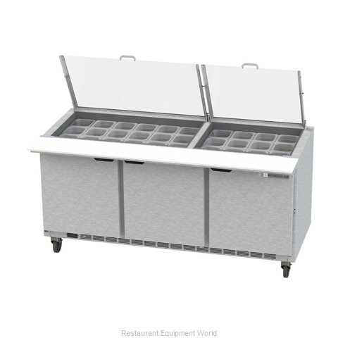 Beverage Air SPE72HC-30M-CL Refrigerated Counter, Mega Top Sandwich / Salad Unit