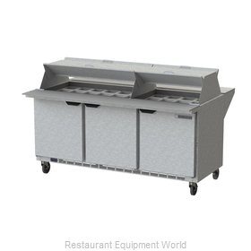 Beverage Air SPE72HC-30M-DS Refrigerated Counter, Mega Top Sandwich / Salad Unit