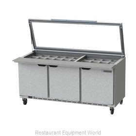 Beverage Air SPE72HC-30M-STL Refrigerated Counter, Mega Top Sandwich / Salad Uni