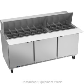 Beverage Air SPE72HC-30M Refrigerated Counter, Mega Top Sandwich / Salad Unit