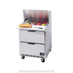 Beverage Air SPED27-12M-B Refrigerated Counter, Mega Top Sandwich / Salad Unit