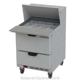 Beverage Air SPED27HC-12M-B Refrigerated Counter, Mega Top Sandwich / Salad Unit