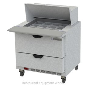 Beverage Air SPED36HC-12M-2 Refrigerated Counter, Mega Top Sandwich / Salad Unit