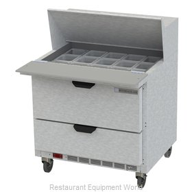 Beverage Air SPED36HC-15M-2 Refrigerated Counter, Mega Top Sandwich / Salad Unit