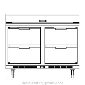 Beverage Air SPED48-08C-4 Refrigerated Counter, Sandwich / Salad Top