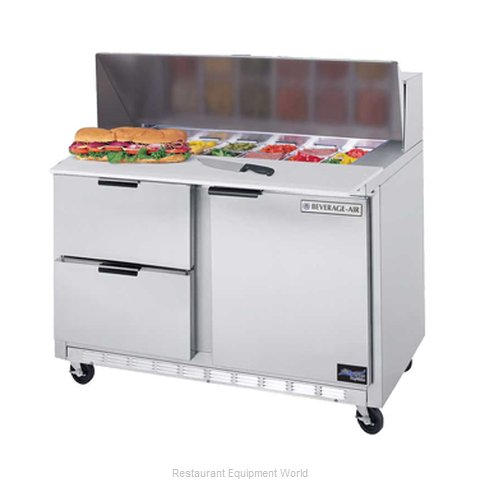 Beverage Air SPED48-10-2 Refrigerated Counter, Sandwich / Salad Top