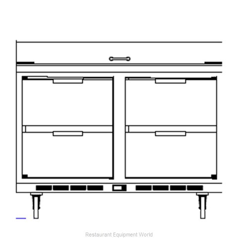 Beverage Air SPED48-10-4 Refrigerated Counter, Sandwich / Salad Top