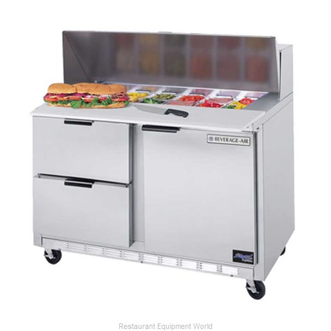Beverage Air SPED48-10C-2 Refrigerated Counter, Sandwich / Salad Top