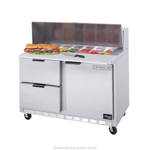 Beverage Air SPED48-12C-2 Refrigerated Counter, Sandwich / Salad Top