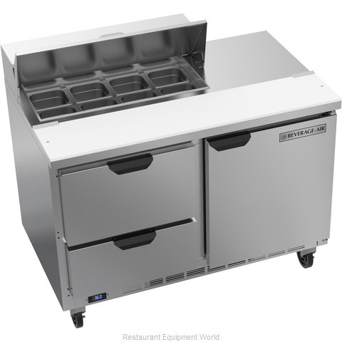 Beverage Air SPED48HC-08-2 Refrigerated Counter, Sandwich / Salad Top