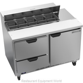 Beverage Air SPED48HC-10-2 Refrigerated Counter, Sandwich / Salad Top