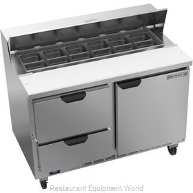 Beverage Air SPED48HC-12-2 Refrigerated Counter, Sandwich / Salad Top