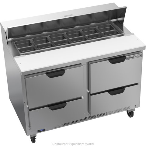 Beverage Air SPED48HC-12-4 Refrigerated Counter, Sandwich / Salad Top