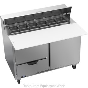 Beverage Air SPED48HC-12C-2 Refrigerated Counter, Sandwich / Salad Top