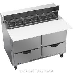 Beverage Air SPED48HC-12C-4 Refrigerated Counter, Sandwich / Salad Top