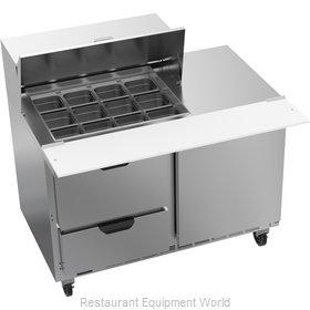 Beverage Air SPED48HC-12M-2 Refrigerated Counter, Mega Top Sandwich / Salad Unit