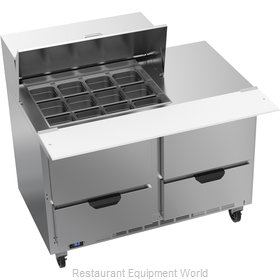 Beverage Air SPED48HC-12M-4 Refrigerated Counter, Mega Top Sandwich / Salad Unit