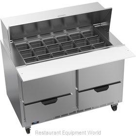 Beverage Air SPED48HC-18M-4 Refrigerated Counter, Mega Top Sandwich / Salad Unit
