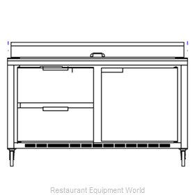 Beverage Air SPED60-08-2 Refrigerated Counter, Sandwich / Salad Top