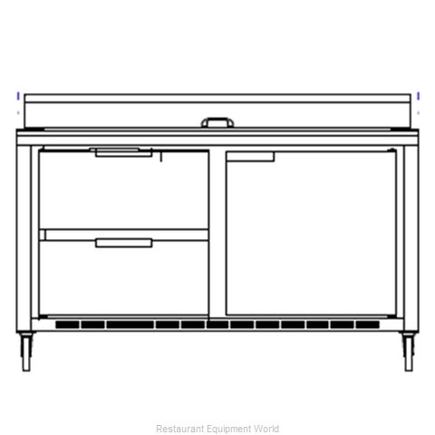 Beverage Air SPED60-12C-2 Refrigerated Counter, Sandwich / Salad Top
