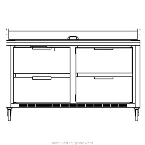 Beverage Air SPED60-12C-4 Refrigerated Counter, Sandwich / Salad Top