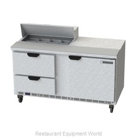 Beverage Air SPED60HC-08-2 Refrigerated Counter, Sandwich / Salad Top