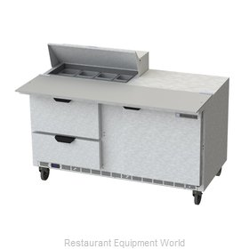 Beverage Air SPED60HC-08C-2 Refrigerated Counter, Sandwich / Salad Top