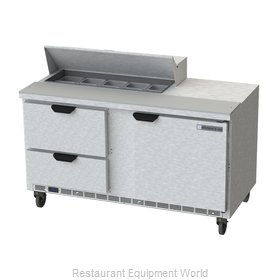 Beverage Air SPED60HC-10-2 Refrigerated Counter, Sandwich / Salad Top