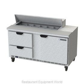 Beverage Air SPED60HC-12-2 Refrigerated Counter, Sandwich / Salad Top