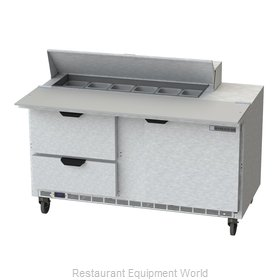 Beverage Air SPED60HC-12C-2 Refrigerated Counter, Sandwich / Salad Top