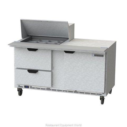 Beverage Air SPED60HC-12M-2 Refrigerated Counter, Mega Top Sandwich / Salad Unit