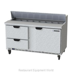 Beverage Air SPED60HC-16-2 Refrigerated Counter, Sandwich / Salad Top