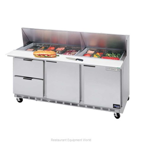Beverage Air SPED72-10-2 Refrigerated Counter, Sandwich / Salad Top