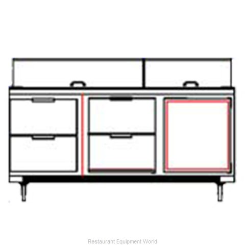 Beverage Air SPED72-10C-4 Refrigerated Counter, Sandwich / Salad Top