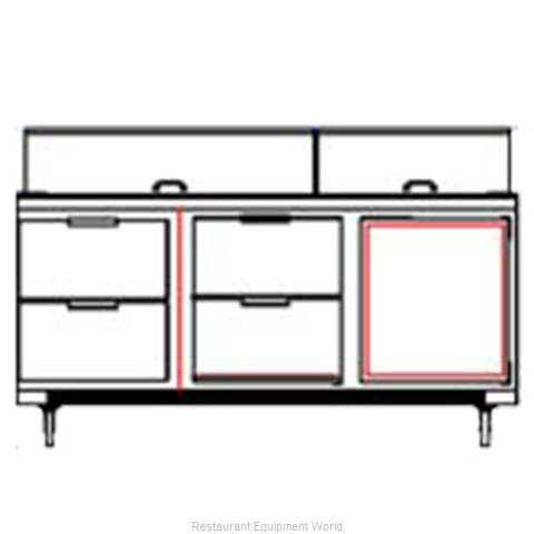 Beverage Air SPED72-12-4 Refrigerated Counter, Sandwich / Salad Top