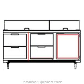 Beverage Air SPED72-18C-4 Sandwich Unit