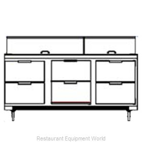 Beverage Air SPED72-18C-6 Sandwich Unit