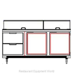 Beverage Air SPED72-24M-2 Refrigerated Counter, Mega Top Sandwich / Salad Unit