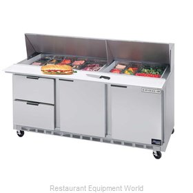 Beverage Air SPED72-30M-2 Mega Top Sandwich Unit