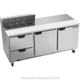 Beverage Air SPED72HC-08-2 Refrigerated Counter, Sandwich / Salad Top