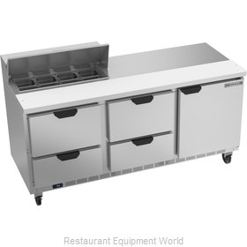 Beverage Air SPED72HC-08-4 Refrigerated Counter, Sandwich / Salad Top