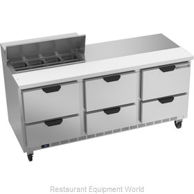 Beverage Air SPED72HC-08-6 Refrigerated Counter, Sandwich / Salad Top