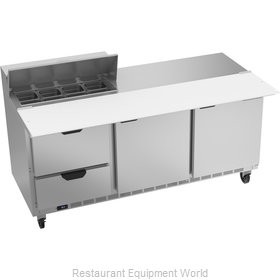 Beverage Air SPED72HC-08C-2 Refrigerated Counter, Sandwich / Salad Top