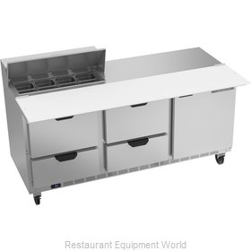 Beverage Air SPED72HC-08C-4 Refrigerated Counter, Sandwich / Salad Top