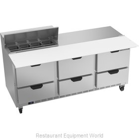 Beverage Air SPED72HC-08C-6 Refrigerated Counter, Sandwich / Salad Top