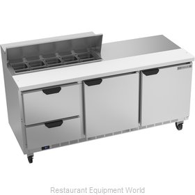 Beverage Air SPED72HC-10-2 Refrigerated Counter, Sandwich / Salad Top
